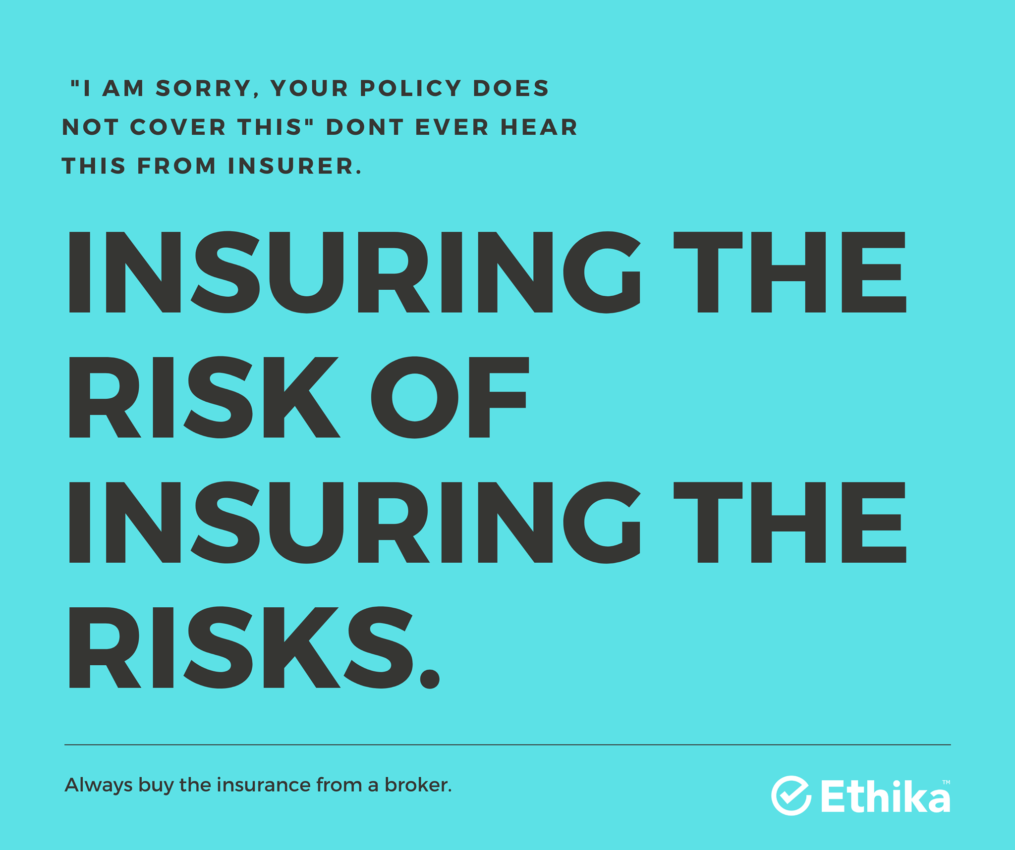 vector image of Insuring the risk