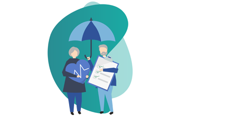 Insurance Broker - vector image of a man and woman