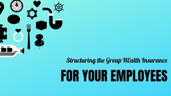 vector image of Structuring the group health insurance for employees