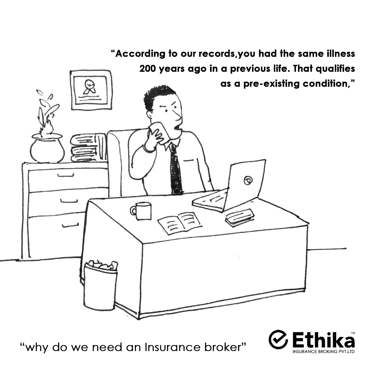 Why you need insurance broker - sketch graphic meme