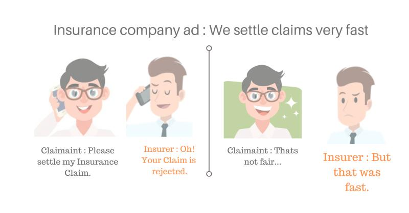 vector image of 2 people talking -Difference between insurance agent and insurance broker