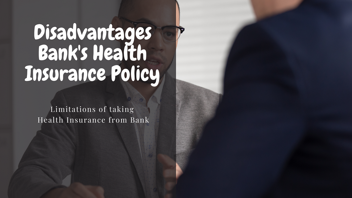 Bank insurer sitting with client in grey coat - bank health insurance policy comparison